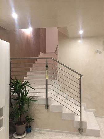 Staircases in marble granite and natural stone